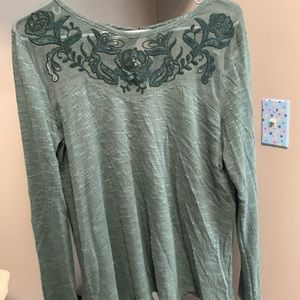 Maurices brand green mesh long sleeve top